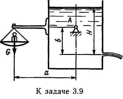 Задача 3.9.  На рисунке показана схема устройства для исследования истечения через отверстия и насадки.
